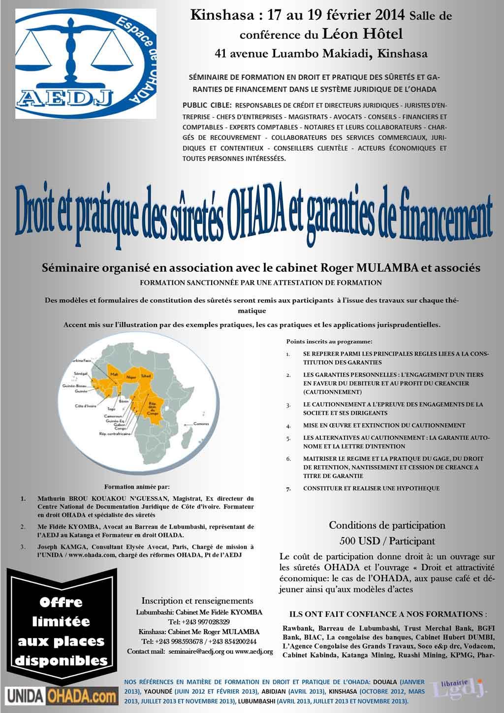 Actualite Seminaire Sur Le Droit Des Suretes Du 17 Au 19 Fevrier