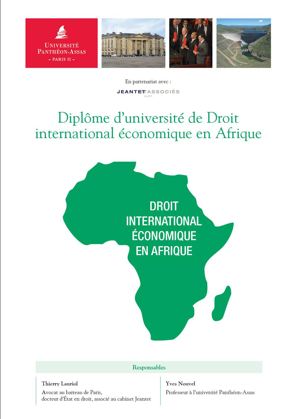 actualit dipl me d 39 universit de droit international conomique en afrique universit. Black Bedroom Furniture Sets. Home Design Ideas