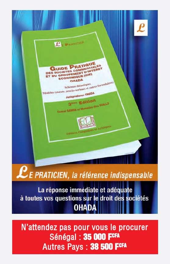 Actualite Guide Pratique Ohada Des Societes Commerciales Et Du Gie