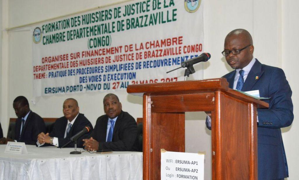 Actualit lancement de la session de formation sur la - Chambre departementale des huissiers de justice ...