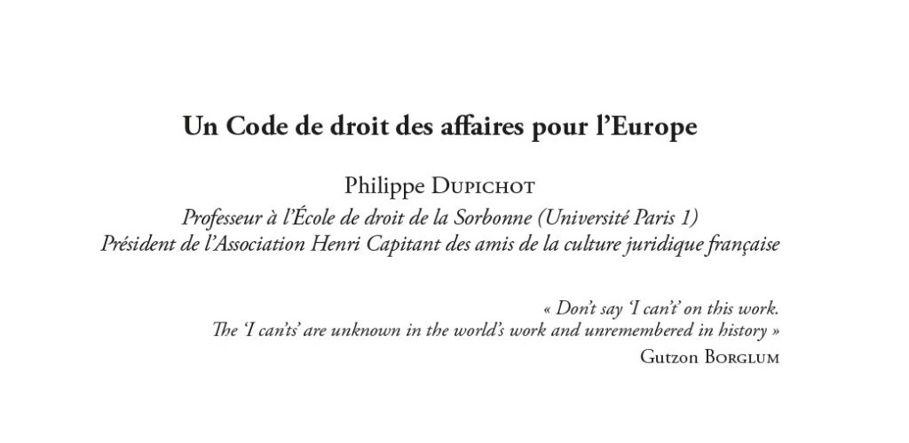 Contribution P. Dupichot